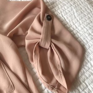 Lush Tops - Pale pink roll tab sleeve tunic top